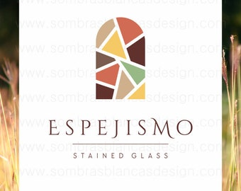 OOAK Premade Logo Design - Stained Glass Window - Perfect for a ceramic artisan or an artist studio