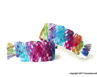 Acupressure Anti Nausea Bracelets for travel, morning sickness, vertigo, stomach issues. Adjustable and comfortable. Fiesta