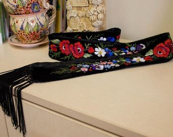 Embroidered belt ukrainian style
