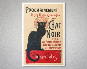 Prochainement du Chat Noir Vintage Poster by Theophile Steinlen - Poster Paper, Sticker or Canvas Print