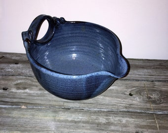 Bowl, Mixing Bowl, Stoneware Bowl, Blue Kitchen Bowl, [D]
