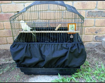 Budgie Cage Seed Guard // Seed Catcher // Cage Skirt // Parrot Cage Side Cover  - YOU PICK FABRIC