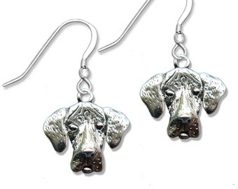 Sterling Silver Great Dane Natural Earrings