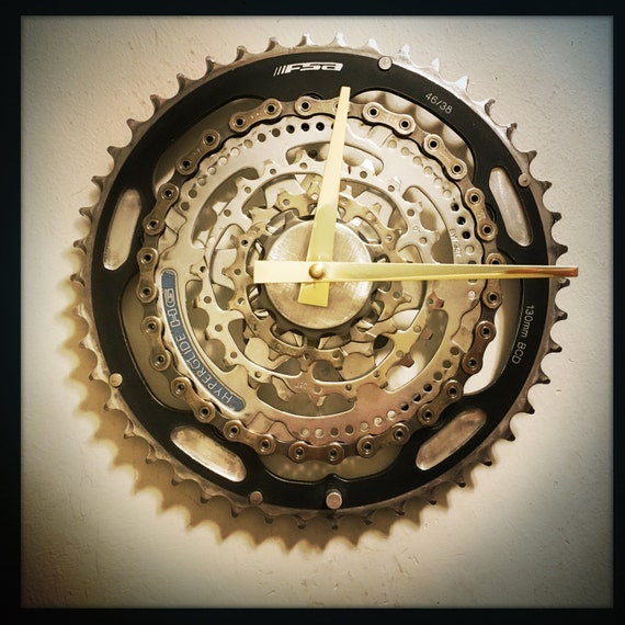 Bicycle Wall Clock Unique Housewarming Gift For Men Large