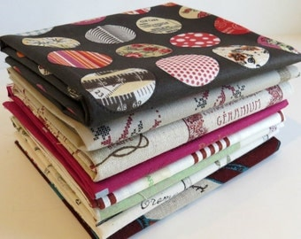 Texting While Sewing Encouraged with Yuwa Fabrics-  Bundle