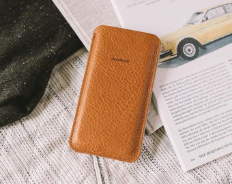 "iPhone 5S Case, iPhone SE Pouch, iPhone 5S Sleeve, suits iPhone 5, iPhone 5C, iPhone SE, leather, felt, ""Dandy"""