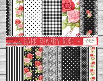 Patterned vinyl, Shabby rose printed vinyl, adhesive vinyl, heat transfer vinyl, pattern heat transfer, printed HTV or ADHESIVE or GLITTER