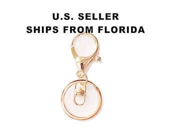 Large Light Rose Gold Keychains With Swivel and Lobster Clasp, Key Chain, Key Clip, Split Ring, Bag Clip DESTASH - Purchase 5 or 10