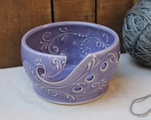 Yarn Bowl, Crochet, Knitting, purple, violet, gift, present, Christmas, IN STOCK, ready to ship