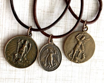 Design Your Own - Leather Necklace - Brown Leather Necklace - Plain Leather Necklace - Men's Leather Necklace - MEDAL NOT INCLUDED