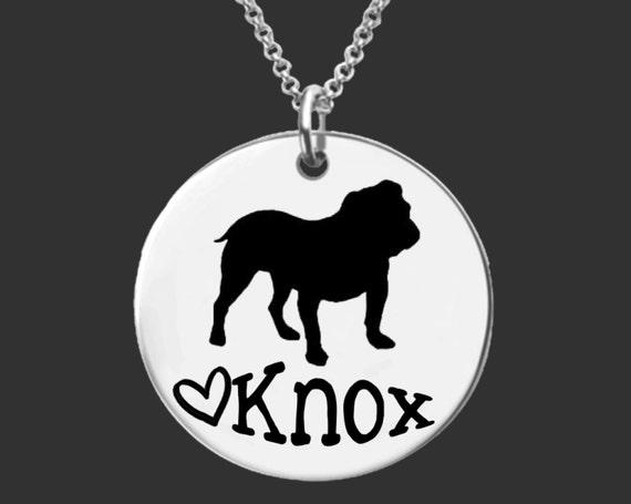 Bulldog Necklace | Bulldog Jewelry | Personalized Dog Necklace | Personalized Gifts | Korena Loves