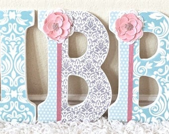 Custom Nursery Letters- Baby Girl Nursery Decor- Personalized Name- Wooden Hanging Letters -Wall Letters- The Rugged Pearl