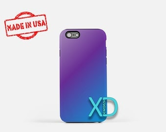 Purple Gradient iPhone Case, Blue and Purple iPhone Case, iPhone 8 Case, iPhone 6s Case, iPhone 7 Case, Phone Case, iPhone X Case, SE Case
