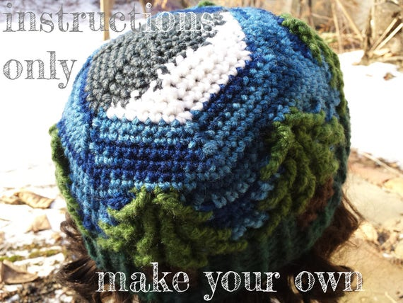 INSTRUCTIONS ONLY - Crochet your own Crescent Moon Treeline Hat ...