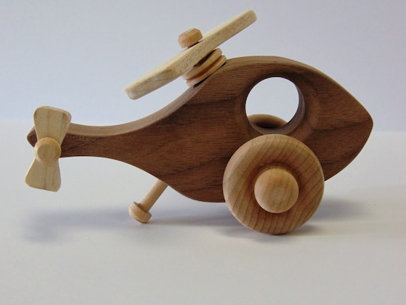 Natural Wood Toy Heli Copter