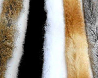 White Fur Trim, Grey Fur Trim, Brown Fur Trim, Rabbit Fur Trim, Long Fur, Rabbit Fur stripe, Furry stripe, Large Fur Stripe,  Fur Long Trim