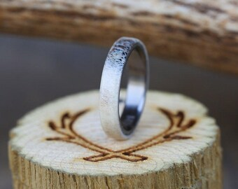Mens Wedding Band Antler Wedding Ring - Staghead Designs