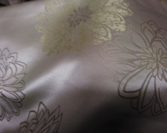 Jacquard floral designer Ashley Wilde gold/lime fabric suitable for soft furnishing curtaining or for crafts