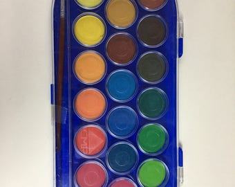 Morocolor, Watercolor Pans, Set of 22, Opaque or Brilliant Colors, Art Supplies, School Supplies, Drawing, Sketching, Journal, Art Journal