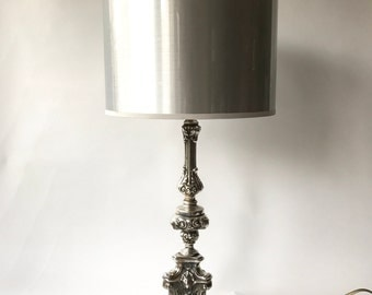 Free shipping. Vintage German baroque table lamp