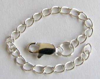 Extender chain, 5 inch  extender, Necklace Extender, Bracelet Extender, Silver, Copper, Gold, Antique Brass.  soldered link, custom.