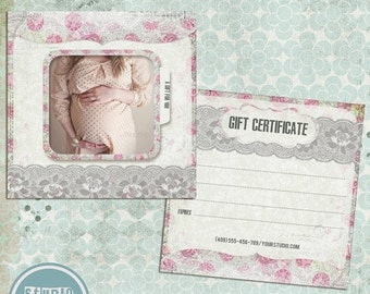 ON SALE Photography Gift Certificate Template, vol. 3 - INSTANT Download