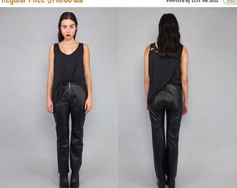 20%OFF Vtg 90s Black Leather Zipper Motorcycle Skinny Pants S