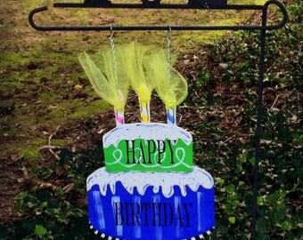 BIRTHDAY CAKE Garden Flag   Celebrate Garden Flag   Happy Birthday Garden Flag   Party Decor
