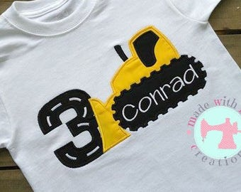 Bulldozer Birthday Shirt-Dozer Birthday Shirt-Construction Birthday Shirt-Construction Shirt-Custom Birthday Shirt-1-9 Birthday Shirt