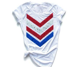 4th of July Shirt. Stars and Stripes. Sequin 4th of July Shirt. America Tee. USA Tank Top. Liam Payne 1D. Red White Blue. Plus Size. Chevron