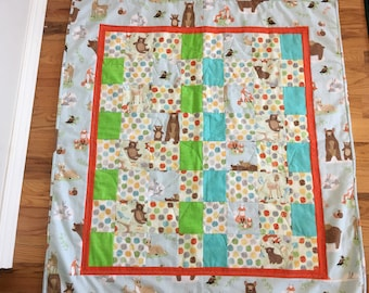 Bears in the Woods Baby Quilt