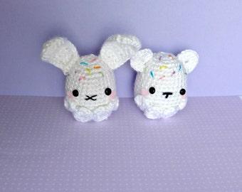 Crochet Sprinkle Bean Amigurumi Bear and Bunny (1)