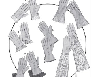Butterick B6398 Misses' Gloves in Six Styles Historical Costume Sewing Pattern
