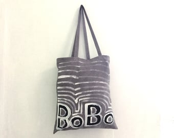 READY to SHIP TOTE BoBo Grey Shoulder Eco Tote Bag / Eve Damon
