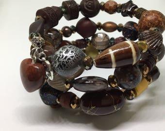 Multi layer wrap bracelet.