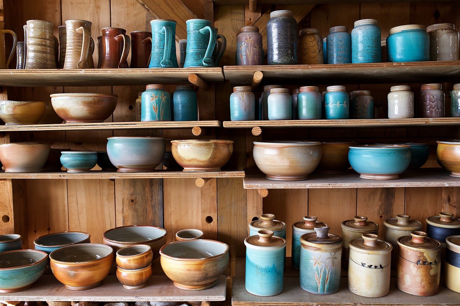 Wood-fired pottery