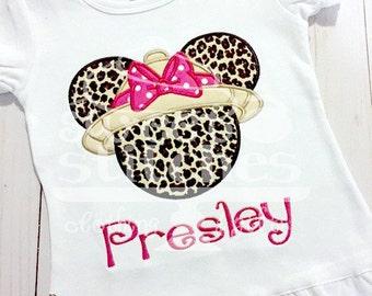 Safari Minnie Mouse -  Cheetah