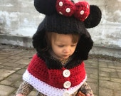 Minnie Mouse Hooded Cowl Size 12-24 months