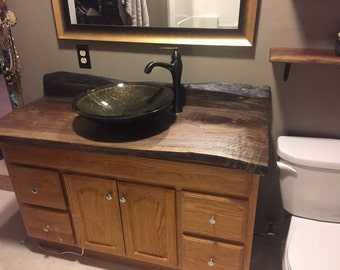 Live Edge Vanity tops, bar tops, and Counter Tops made from Live EDGE Slabs