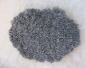 Sheepskins in natural medium grey