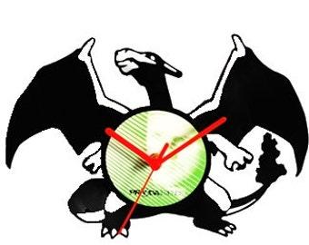 Charizard Vinyl Clock