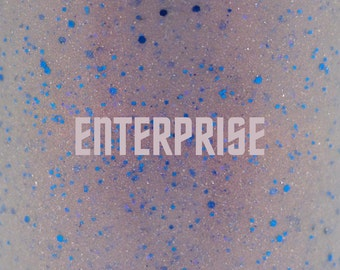 "Enterprise glitter nail polish 15 mL (.5 oz) from the ""Trek"" Collection"