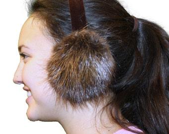 Glacier Wear Natural Beaver Fur Ear Muffs