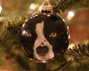Pet Portrait 70mm Ornament - CUSTOM ORNAMENTS - Hand Painted