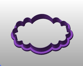 Oval Scallop cookie cutter