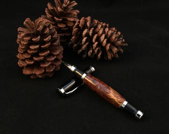 Wood Rollerball Pen - Pine Cone - Hand Turned. Hand Crafted