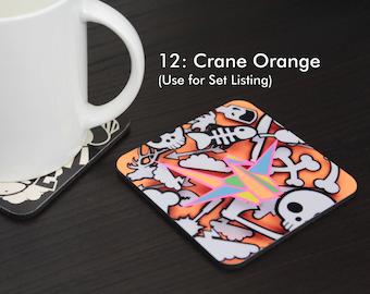 Crane Orange Coaster (#12)