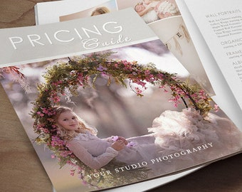 Pricing Guide Photography Magazine Template - Client Welcome Guide - Product Catalog INSTANT DOWNLOAD ID216