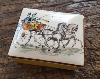 Vintage Mid-Century Gray's Pottery Trinket Box