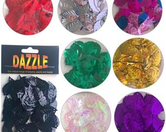 Dazzle Leaf Sequin Spangles 70 pcs